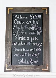 DIY Rustic Chalkboard For A Wedding Domestically Speaking