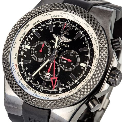 bentley breitling breitling for bentley gmt midnight carbon