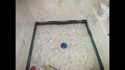 marble carrara tile bathroom part  installing  shower