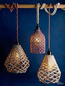 diy macrame pendant With ideas of making diy pendant light shades