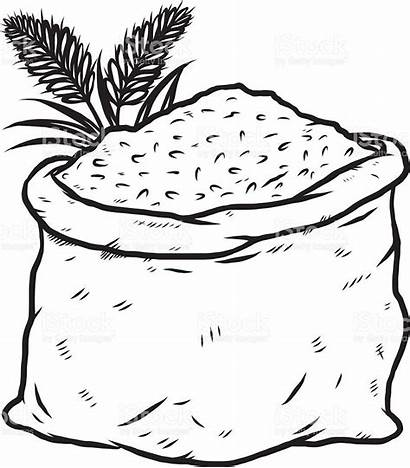 Rice Sack Vector Illustration Clipart Coloring Clip