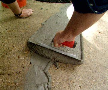 Repair Cracks in a Concrete Driveway   Concrete stain