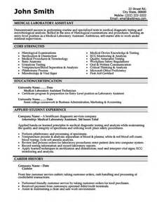 clinical laboratory technician resume sles laboratory assistant resume template premium resume sles exle career future