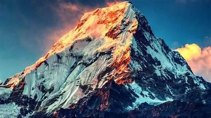Everest Mount Mountain Sunset Himalayas Snow Peak