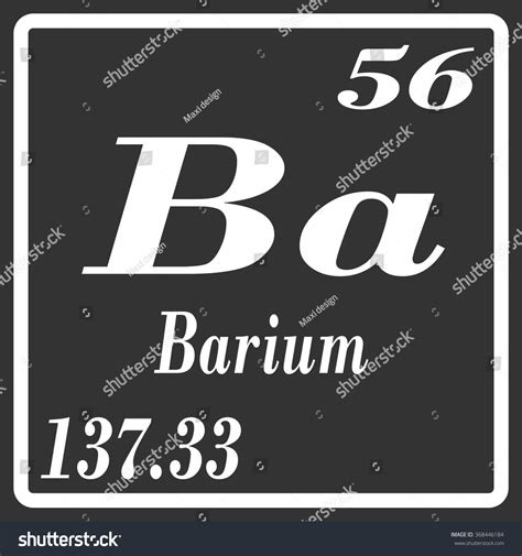 Barium Protons by Periodic Table Elements Barium Stock Vector 368446184