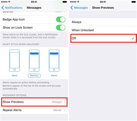 hide text messages iphone how to hide text messages email notification previews