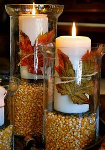 Thanksgiving/Fall Decorations-Hurricane Vases - Amanda