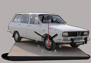 Renault 12 Break En Miniature Auto Horloge