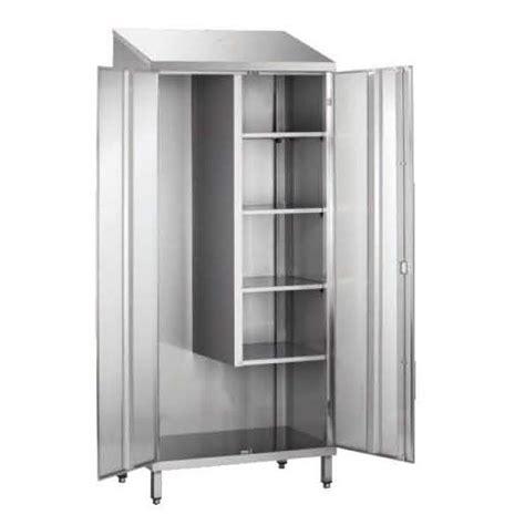 porte d 駘駑ent de cuisine armoire d 39 entretien toit penté 1 porte non doublée inox ferritique l 600 x p 400