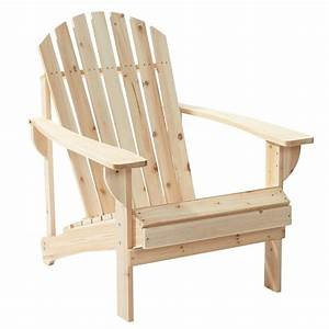 Unfinished Wood Patio Adirondack Chair-11061-1 - The Home