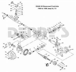 Jeep  U0026gt  Front Axles And Related Parts  U0026gt  Dana 30