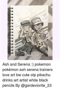 Pokemon Ash and Serena Love