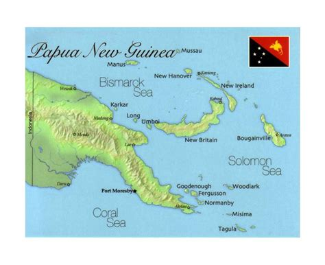 maps  papua  guinea collection  maps  papua