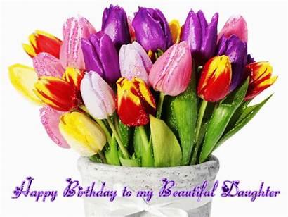 Daughter Birthday Happy Wishes Flower Cake Whatsapp