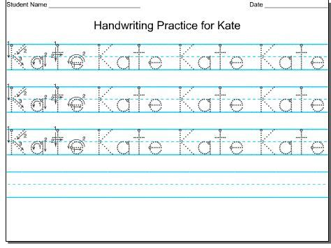 Create Your Own Handwriting Worksheets For Kindergarten  1000 Images About Education Printing