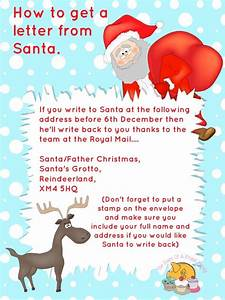 free printables letter to santa templates and how to get With how to get a letter from santa