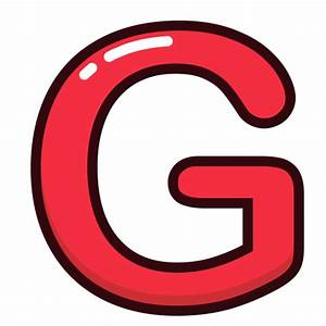 Red  G  Alphabet  Letter  Letters Icon