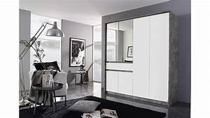 Kleiderschrank Weiß Grau : kleiderschrank bornheim schrank 6 t rig grau wei mit spiegel 181 cm ~ Buech-reservation.com Haus und Dekorationen