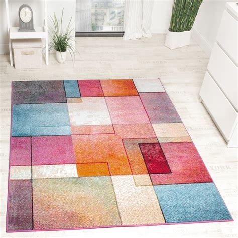 moderne teppich tapis de créateur moderne coloré motif à carreaux