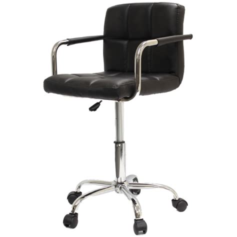 swivel chair stool roller wheels with arms computer salon