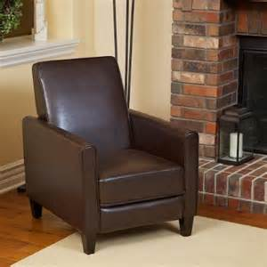 lucas brown leather recliner club chair 169 99 topseller