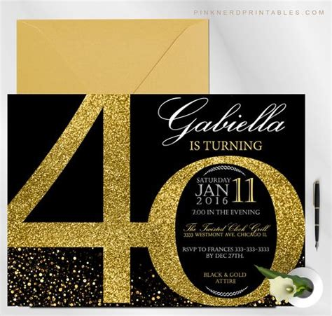 Cheap 40th Birthday Invitations Milestone Invitation 20th 30th