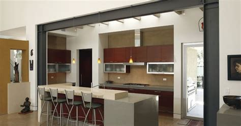 kitchen styles designs living dining support beam post design pictures remodel 3210