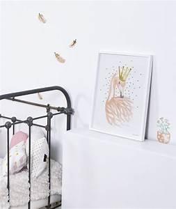 affiche enfant romantique flamant rose lilipinso With affiche chambre bébé avec livraison roses bleues