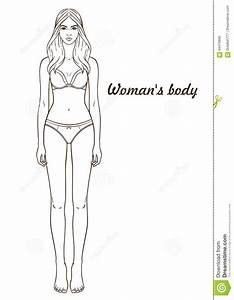 Vector illustration of womans body stock vector image for Paper doll template woman