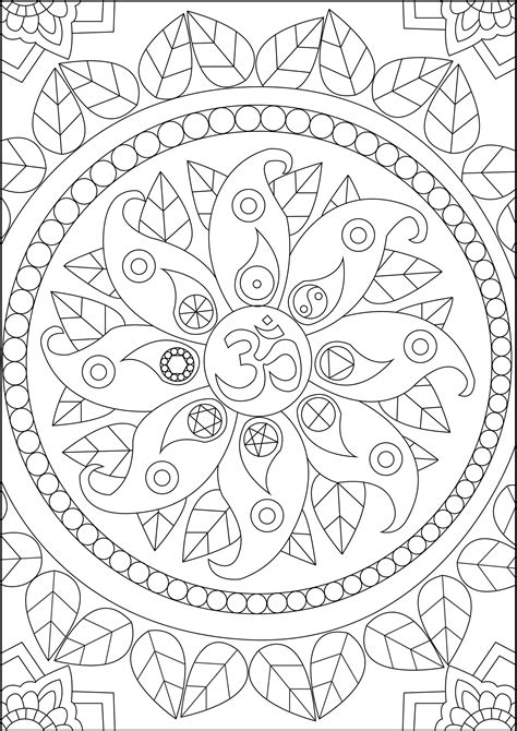 peace symbols anti stress adult coloring pages