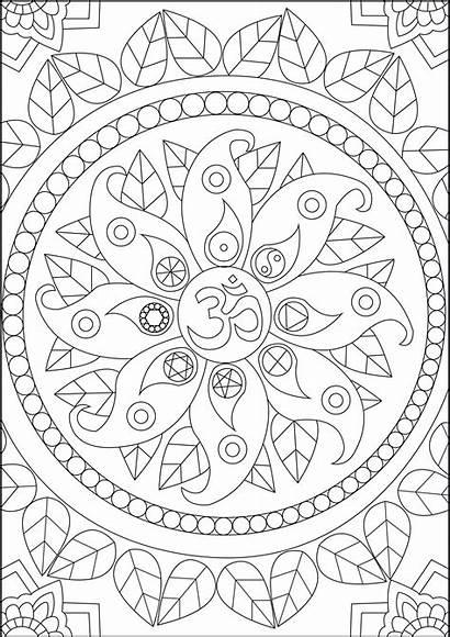 Coloring Stress Zen Pages Anti Peace Symbols