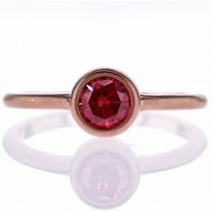 Fancy Red Diamond Solitaire Engagement Ring, 18k Rose Gold ...