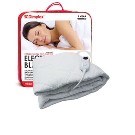 electric cold pillow dimplex single pillow top fitted electric blanket