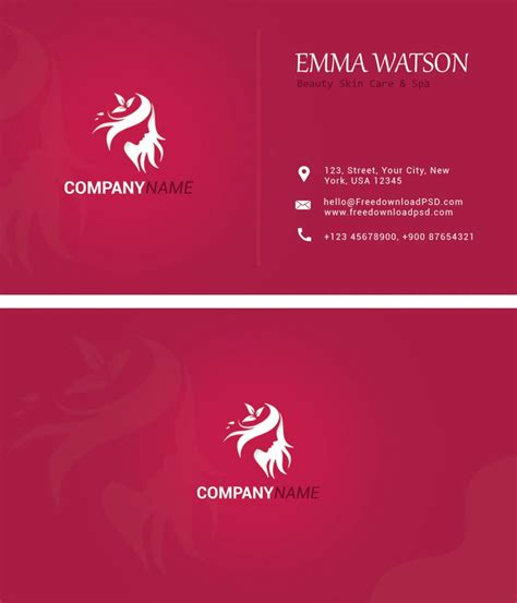 nice clean business card psd freedownloadpsdcom