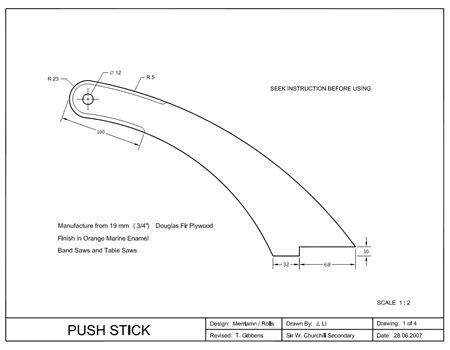 push stick templates plans diy   adirondack