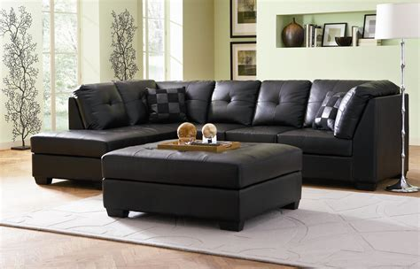 black leather sectional with ottoman furniture charming sleeper sofa l shaped for living room