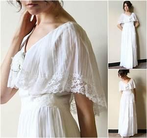reserve 70s hippie wedding dress vintage boho by With vintage hippie wedding dresses
