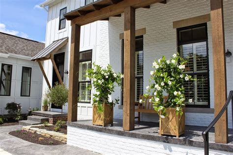 Modern Porch Design by White Houses With Black Window Trim Life On Virginia Street