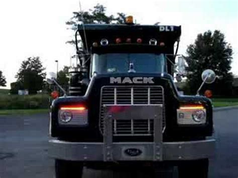 1988 mack tri axle dump custom strobes