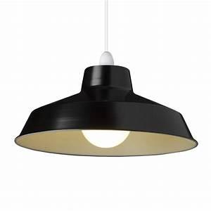 Small dual fitting pluto metal lighting pendant shades black