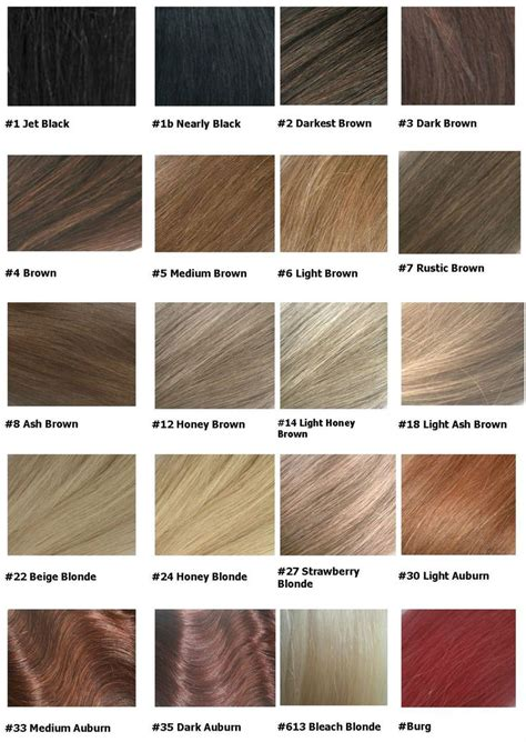 Hair Color Shades Of Chart by Hair Colour Chart Hair Images 2016 Palette Schwarzkopf