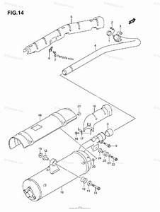Suzuki Atv 2006 Oem Parts Diagram For Muffler