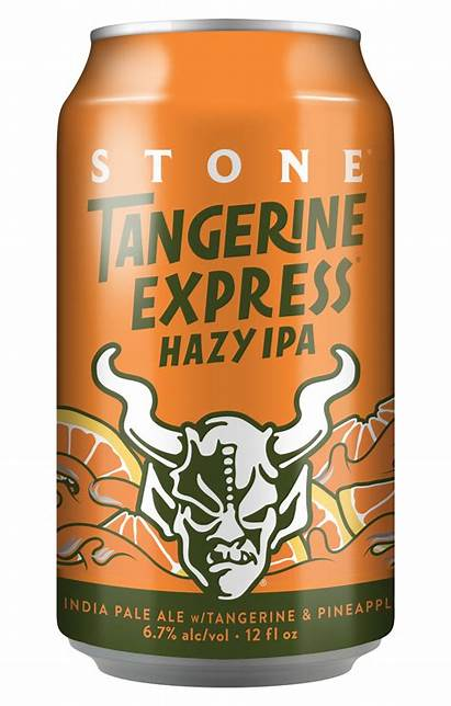 Ipa Hazy Stone Tangerine Express Beer Packaging