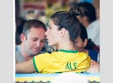 Alessandra Ambrosio and Adriana Lima watch Brazil crash