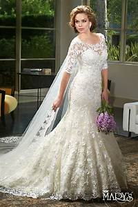 Marys bridal spring 2016 wedding dresses decor advisor for Lace fit and flare wedding dress with sleeves