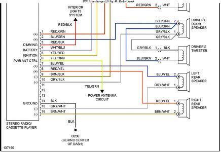 acura integra stereo wiring diagram hp photosmart printer