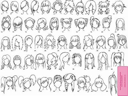 Anime Hairstyles Manga Chibi Hair Female Deviantart