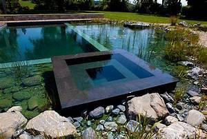 Schwimmteich mit whirpool egli gartenbau ag uster for Whirlpool garten mit große pflanzkübel beton