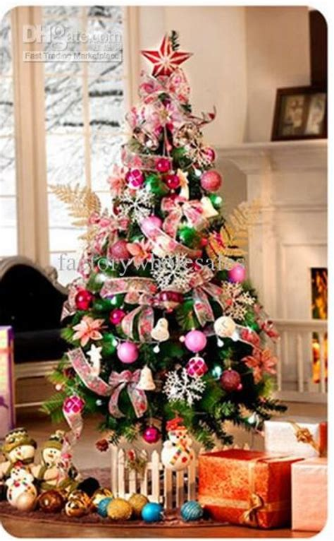 christmas tree decorations pink 120cm christmas tree with