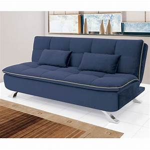 Www Otto De Sofas : sof cama mayara 3 lugares 1 90 m suede azul linoforte ~ Bigdaddyawards.com Haus und Dekorationen